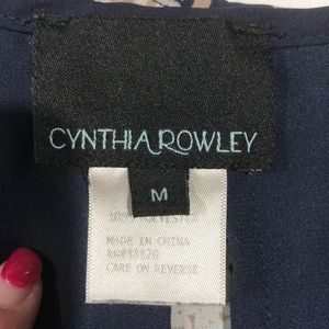 Cynthia Rowley Tops - Cynthia Rowley Navy print poncho blouse size med